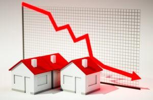 График падения цен на недвижимость
